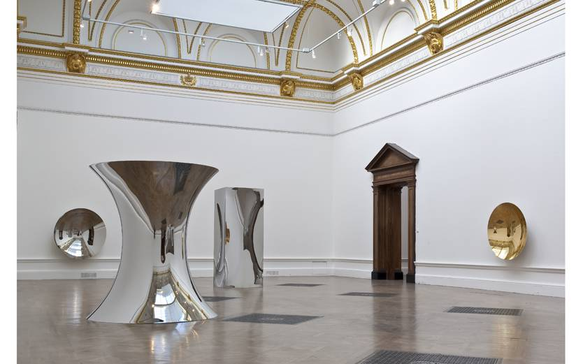 Non Object (mirror), 2009; Non-Object (Door), 2009; Turning the World Upside Down (gold),  2009