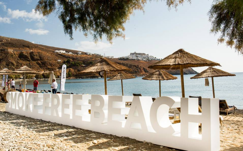 Livadi smoke-free beach 26 September 2019 Astypalea, Greece